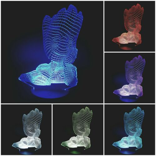 LED Table Lamp Table Lamp Night Light 7-Fold Colour Changing Baby Groot
