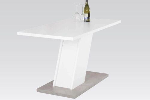 Betonoptik Küchentisch 140x80 Weiß gratis Lieferung Esstisch Rechteckig