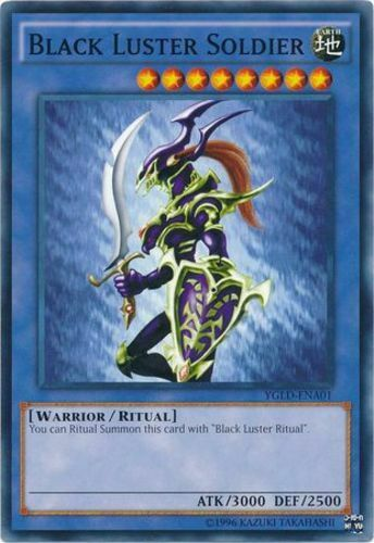 YGLD-ENA01 Black Luster Soldier Unlimited Edition  YuGiOh 3x Common M//NM