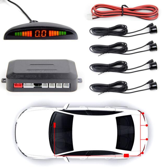 Car Parking Rear Reverse Radar LED Display Backup System 6 Flat Sensor Alarm Kit