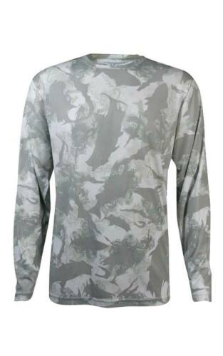 Pick Size-Free Ship Mojo Flats Camo Grey Performance Fishing Shirt UPF 50
