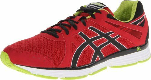 ASICS America Corporation Asics Mens Gel-invasion Running Shoes Onyx/black/red