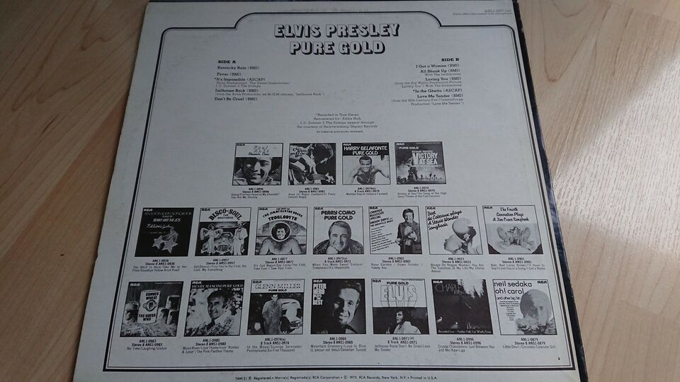 LP, Elvis, Pure gold
