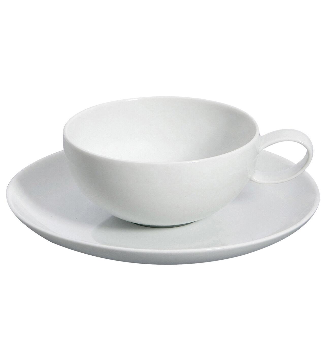 Vista Alegre Domo Blanc Tasse à thé & soucoupe-Lot de 8