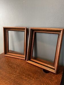 """Pair Of Antique Shadow Box Picture Frames  Walnut 14 1/2"""" X 12 1/2"""""""