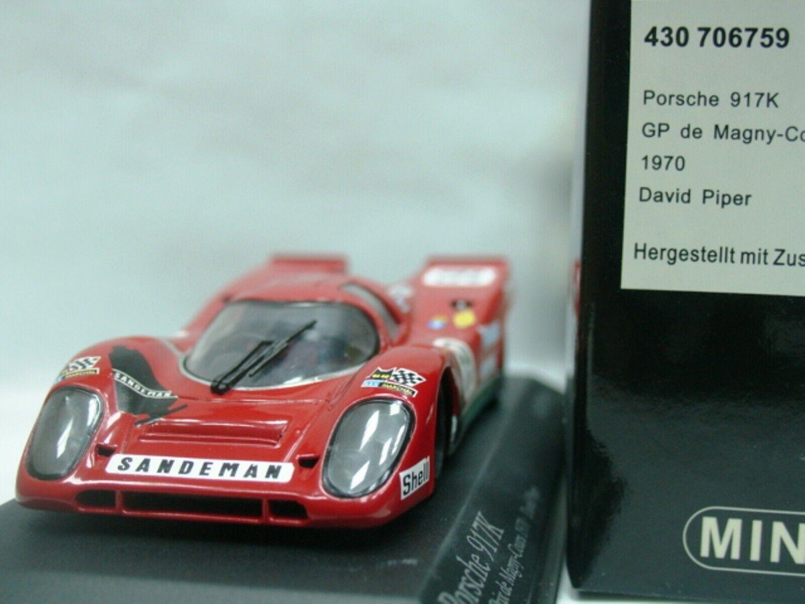 WOW estremamente RARA PORSCHE 917  59 PIPER GP MAGNY-COURS 1970 1 43 Minichamps