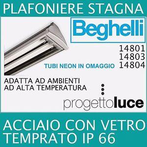 BEGHELLI-PLAFONIERE-STAGNA-T8-ACCIAIO-REATTORE-ELETTRONICO-IP66-2X18W-2X36W