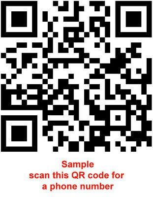 Qr Code For Your Business Website Or Merchandise Marketing Items Ebay