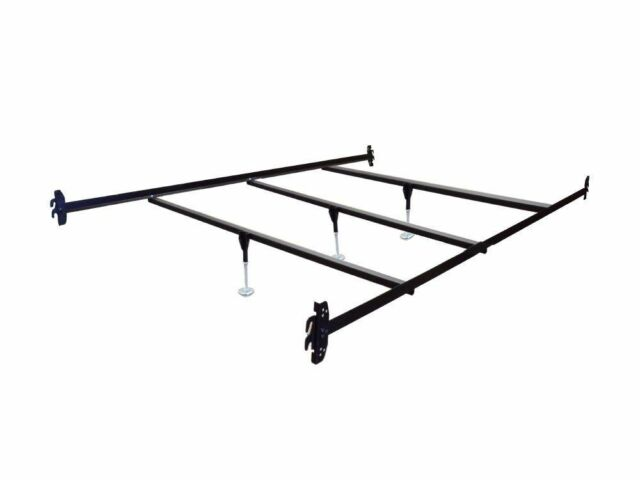 Queen Size Hook on Bed Frame Rails with 3 Cross Beams with Legs