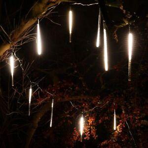 Weihnachtsbeleuchtung Eiszapfen Lauflicht.Details Zu 10 Leuchtstäbe Lauflicht 30 Cm An Lichterkette Weihnachten Meteorschauer Außen