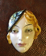 Goebel Art Deco Lady Wall Mask  Vintage 1930s Rare