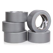 Heavy Duty Silver Duct Tape 5 Roll Multi Pack Industrial Lot 30 Yards X 2