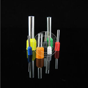 1000pcs 14 AWG 2.5mm² Insulated Cord End Terminal Wire Ferrules ...