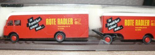 Z2 Brekina 57202 MB valigetta camion ROSSA Radler Francoforte
