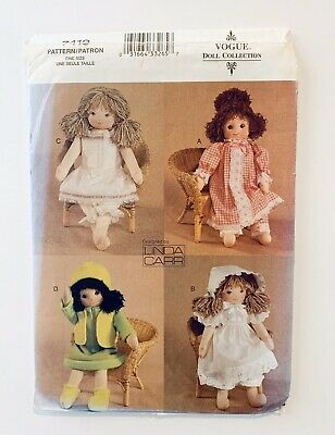 "VOGUE 7418 1930s 18"" RAG DOLL /& CLOTHES Pattern"