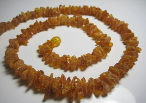 3-Raw Réel BALTIC AMBER collier 60 g!!!
