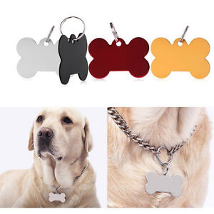 Puppy-Pet-Dog-Cat-Small-Stainless-Bone-Print-ID-Name-Collar-Fashion-Tag-FA
