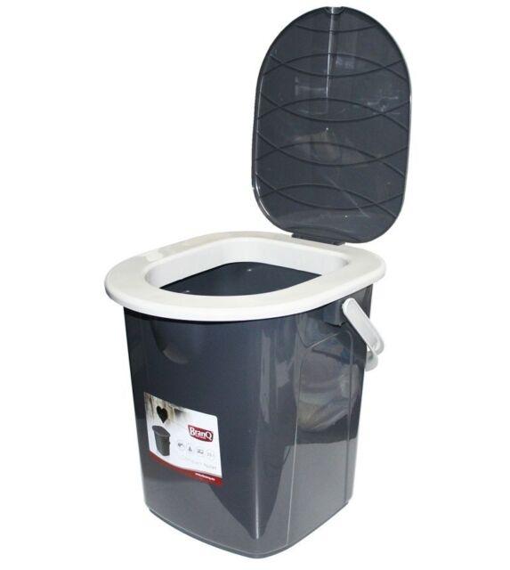16L Portable Camping Toilet Bucket Seat Detachable Lid Outdoor Trip Festival