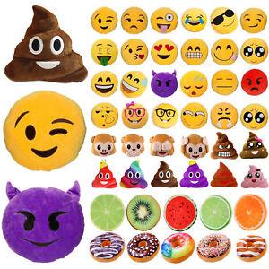 Emoji-Caca-Singe-Fruits-Donut-Coussin-Doux-Rembourre-Oreiller-Jete