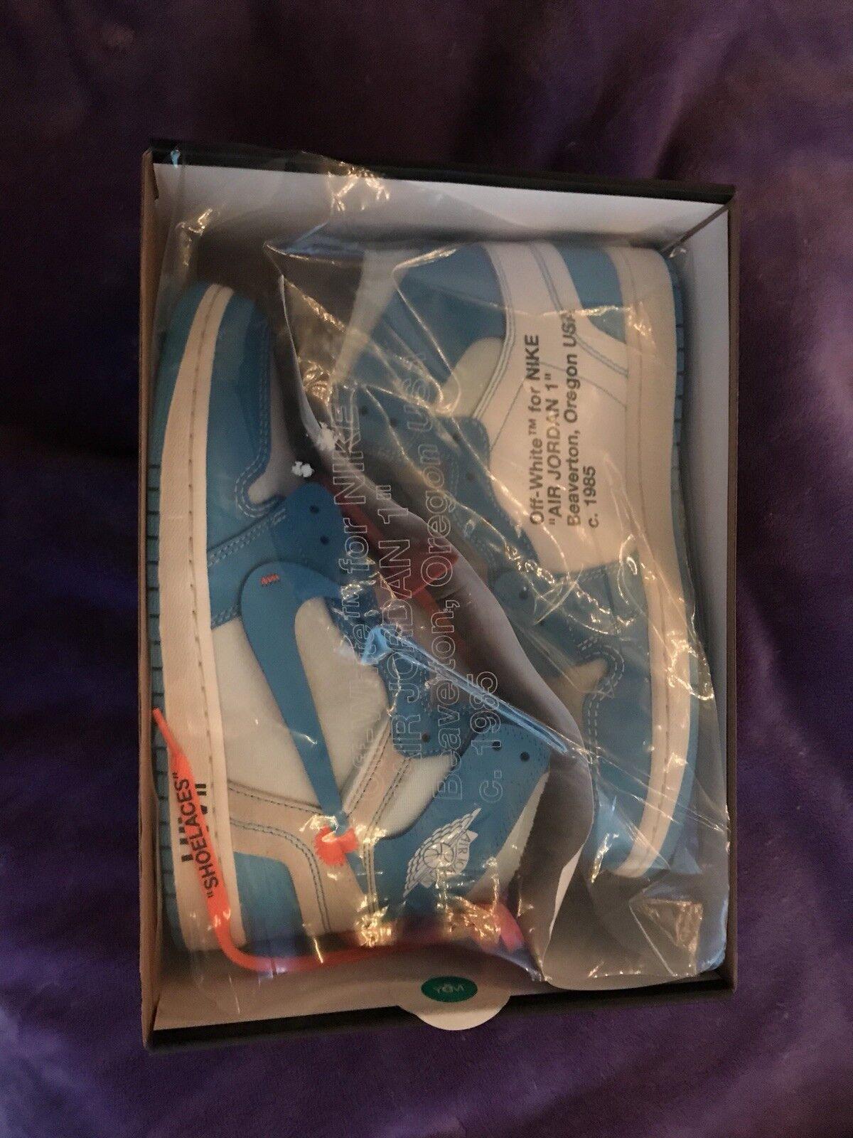 Air Jordan 1 Retro High OG NRG Off-White UNC The Ten size 10 Nike