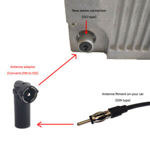 Car-Aerial-AntennaAdapter-Radio-DIN-to-ISO-FemaletoMale-Connector-For-Car-Re65