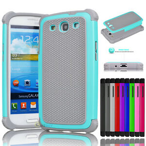 Hybrid-Rugged-Impact-Rubber-Hard-Skin-Case-Cover-For-Samsung-Galaxy-S3-III-i9300