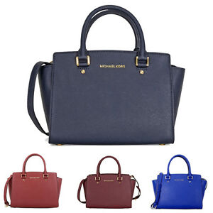 michael kors selma saffiano leather medium satchel ebay. Black Bedroom Furniture Sets. Home Design Ideas