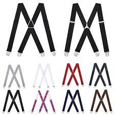 New Black Clip On Tuxedo Formal Wedding Groom Suspenders Elastic TUXXMAN
