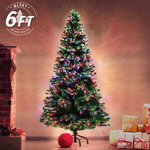6ft 180cm Fibre Optic LED Xmas Tree - Multi Colour