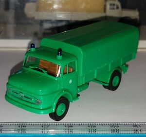 BREKINA-4713-MERCEDES-BENZ-L322-CAMION-POLIZEI-POLICE-OLD-TIME-SCALE-1-87-HO-OVP