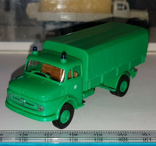 BREKINA 4713 MERCEDES BENZ L322 CAMION POLIZEI POLICE OLD TIME SCALE 1:87 HO OVP