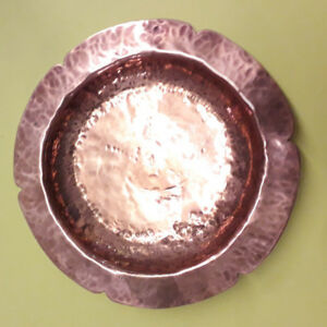 Lovely-Vintage-Hammered-Copper-Pin-Dish-Ring-Tray-Coin-Dish-Ashtray