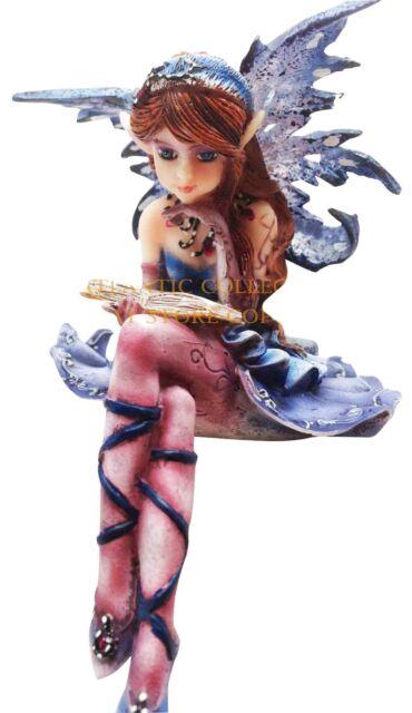 Pretty Ballet Bookworm Fairy Shelf Sitter Decoration Figurine Collectible Magic