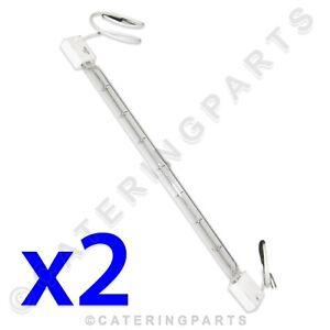 Lot de 2 X LA05 500 W dur 218 mm filaire QUARTZ PORTIQUE Affichage CHALEUR lampes 240 V