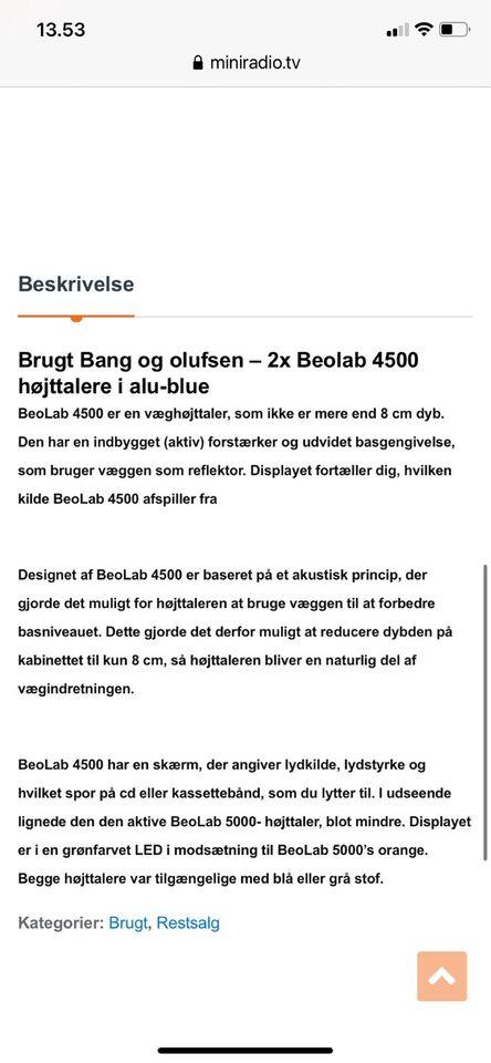 Højttaler, Bang & Olufsen, Beolab 4500