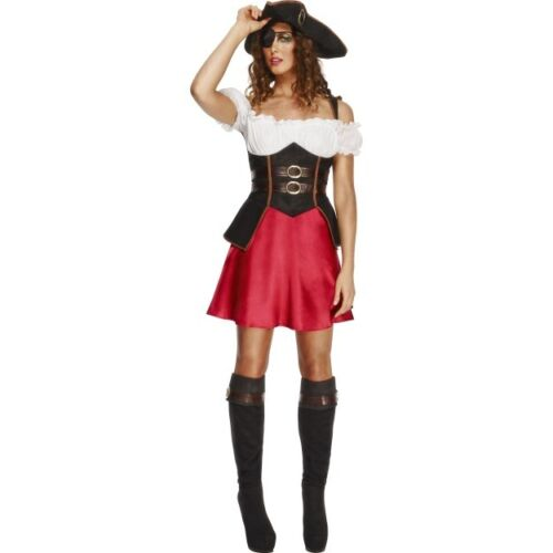 Pirates of the Caribbean - Pirate Captain Fancy Dress Women Costume Sexy Wench