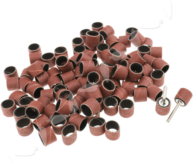 92pcs 1//4 Inch Sanding Bands Drums Sleeves 60 120 240 320 Grit with 5 Mandrel