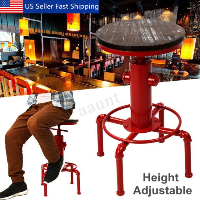 Awe Inspiring Industrial Vintage Kitchen Swivel Pub Bar Cafe Stool Adjustable Wood Iron Ca Beatyapartments Chair Design Images Beatyapartmentscom