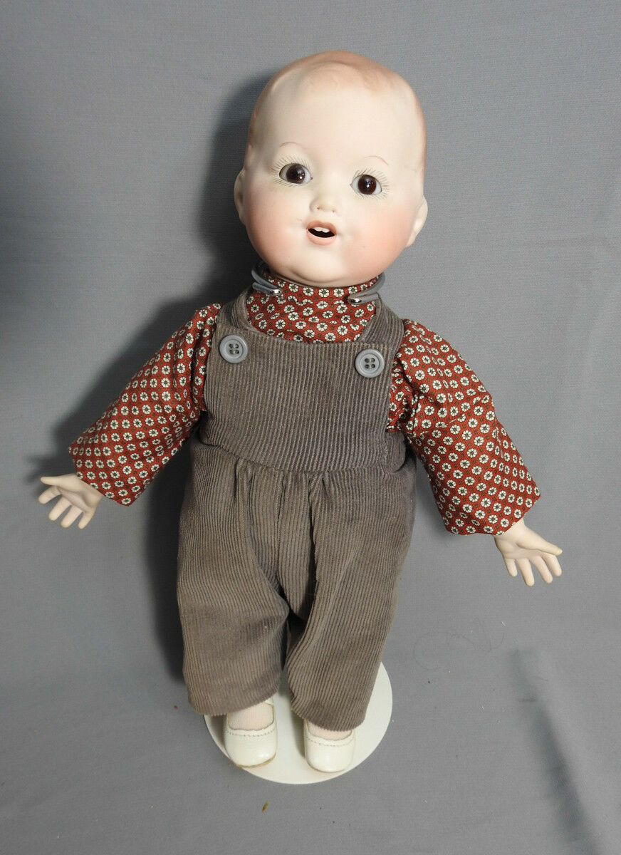 ANTIQUE REPRODUCTION ARMAND MARSEILLE 352 BABY BOY DOLL BISQUE HEAD 13,5 TALL