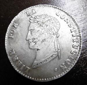 BOLIVIE-4-SOLES-1856-FJ-Argent