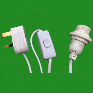 5x-E14-SES-Culot-D-039-ampoule-amp-Cable-Interrupteur-De-Ligne-Bureau
