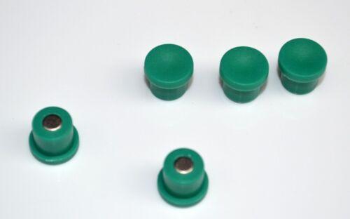 Büromagnet Ø 18 mm x 8 mm Neodym grün hält 1 kg 10 x Pinnwandmagnete