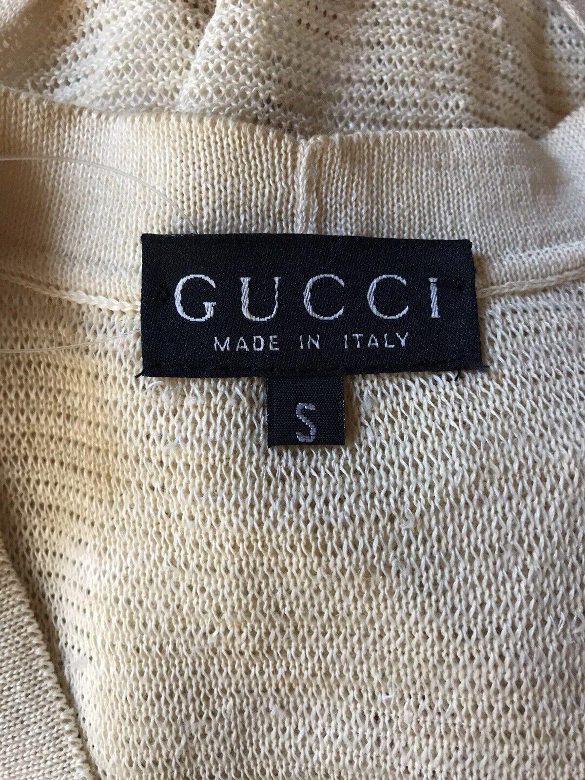 Rare Vtg Gucci 90s Ecru Floral Print Silk Linen B… - image 7