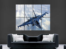 SUKHOI SU 35 FIGHTER JET POSTER  AEROPLANE RUSSIAN HUGE LARGE WALL ART