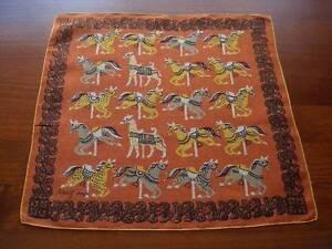 Vintage-Tammis-Keefe-Carousel-Horses-Hanky-Handkerchief-Hankies
