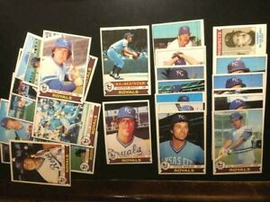 1979-TOPPS-BASEBALL-25-KANSAS-CITY-ROYALS-CARDS-EXNM-W-GEORGE-BRETT-FREE-SHIP