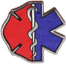 Firefighter EMT Emblems Patch Star of Life Maltese Cross Medical Fire Chest