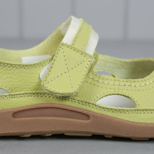 Ladies Real Leather Coolers Premier Summer Sandals Shoes Green 3-7