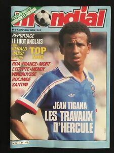 MAGAZINE-MONDIAL-N-81-TIGANA-FRANCE-FOOTBALL-ANGLAIS-AFRIQUE-GIRONDINS-TOULOUSE