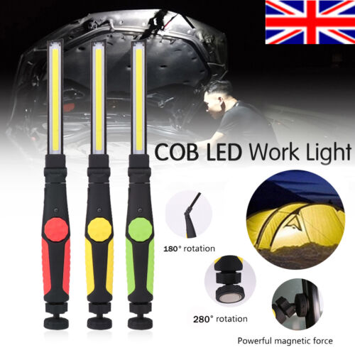 Rechargeable COB USB LED Work Light Flexible Magnetic Inspection Lamp Hand Torch